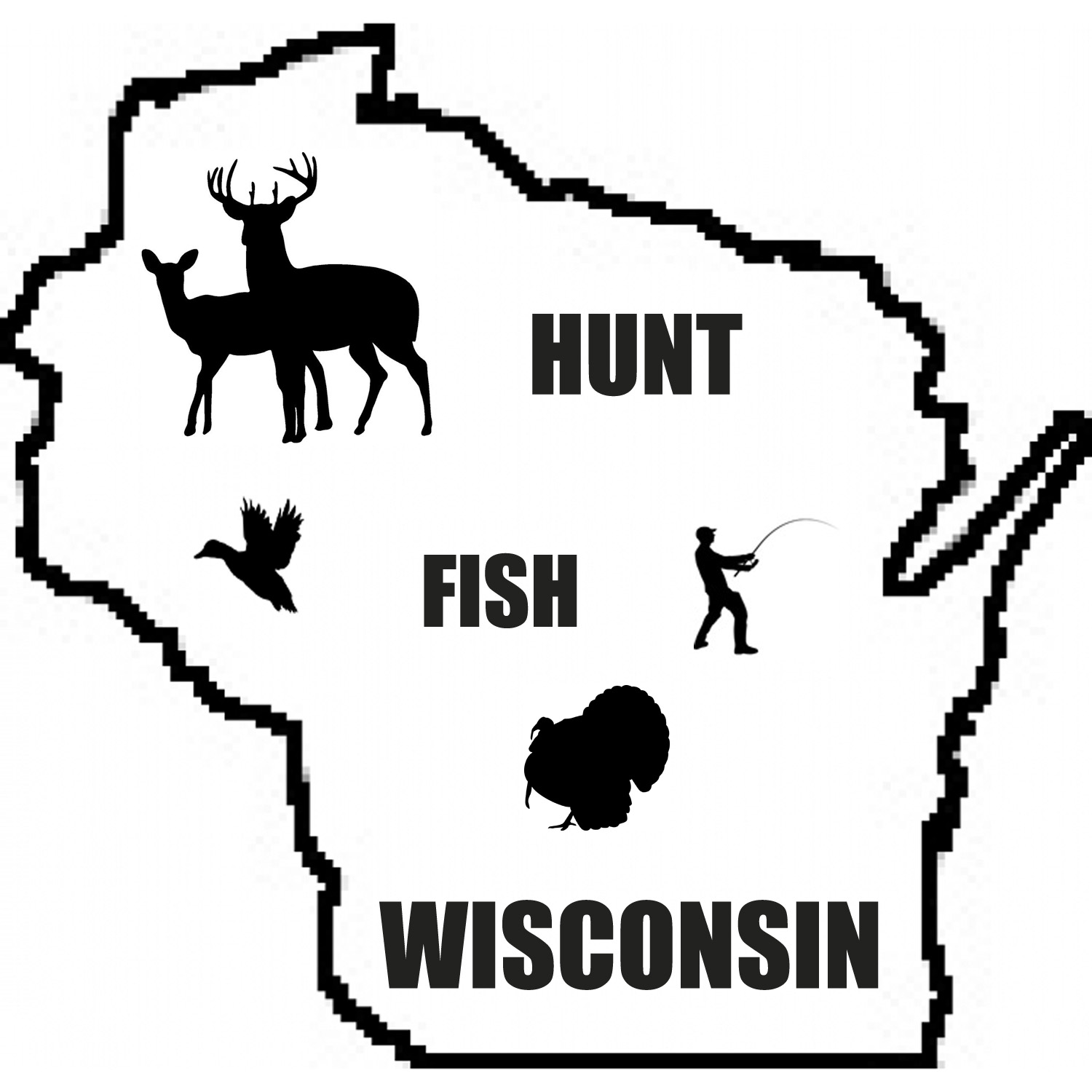 Wisconsin fall outdoors clipart clipart library stock Hunt Fish Wisconsin | Listen via Stitcher for Podcasts clipart library stock