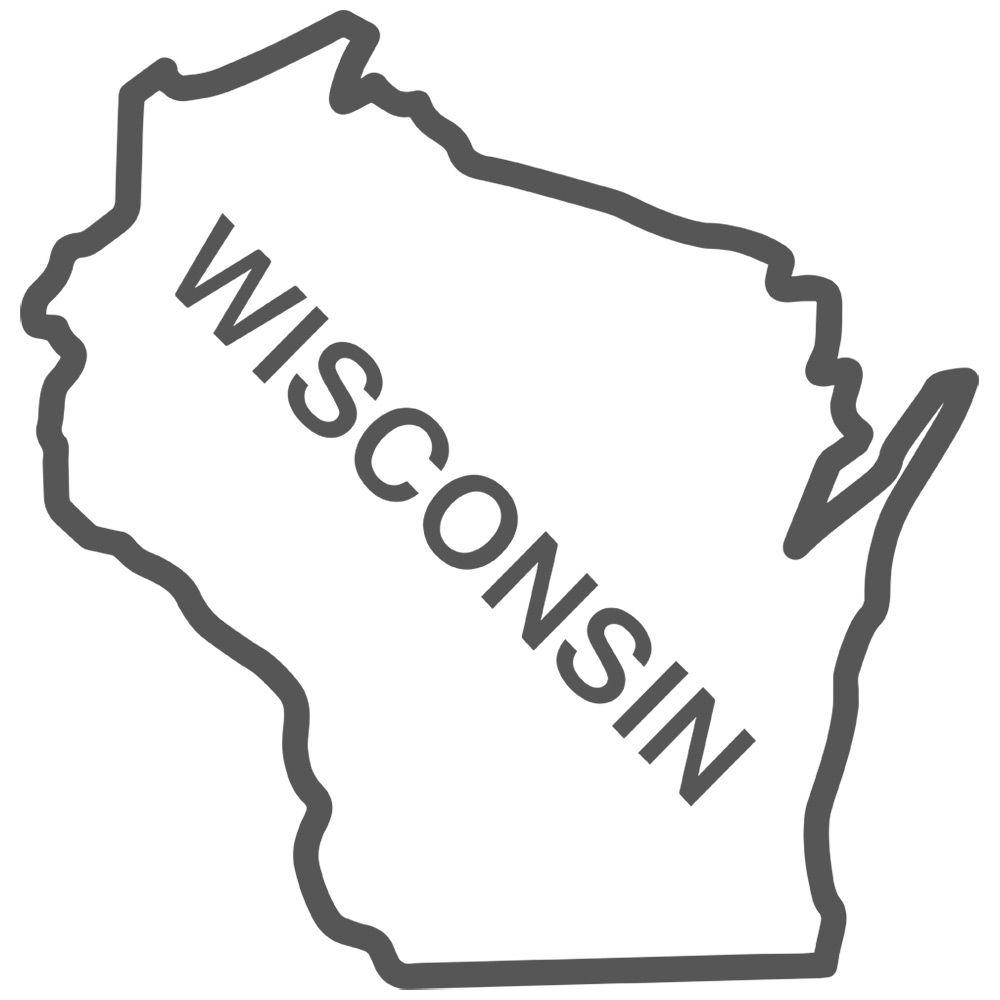 Wisconsin map clipart jpg transparent stock Outline Map Of Wisconsin State With State Of Wisconsin ... jpg transparent stock