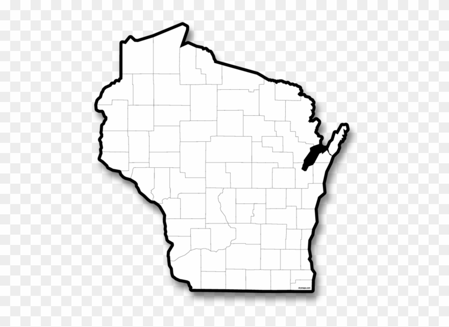Wisconsin map clipart picture freeuse download Wisconsin - Map Of Wisconsin Black And White Clipart ... picture freeuse download