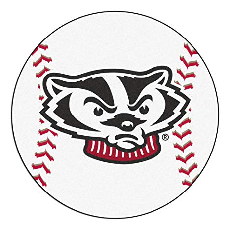 Wisconsin outdoors clipart clip black and white download Amazon.com : University of Wisconsin Badgers Baseball Area ... clip black and white download