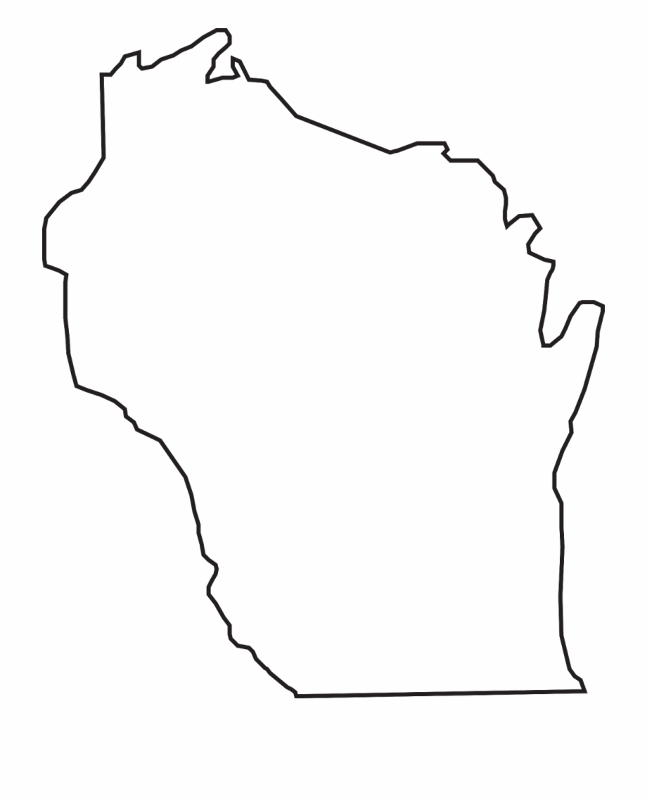 Wisconsin outline clipart image transparent download Wisconsin State Outline Free PNG Images & Clipart Download ... image transparent download