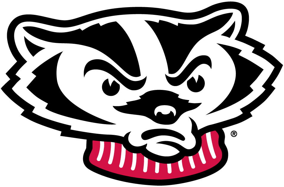 Wisconsin sports logos clipart black and white clip Wisconsin Badgers Secondary Logo - NCAA Division I (u-z ... clip