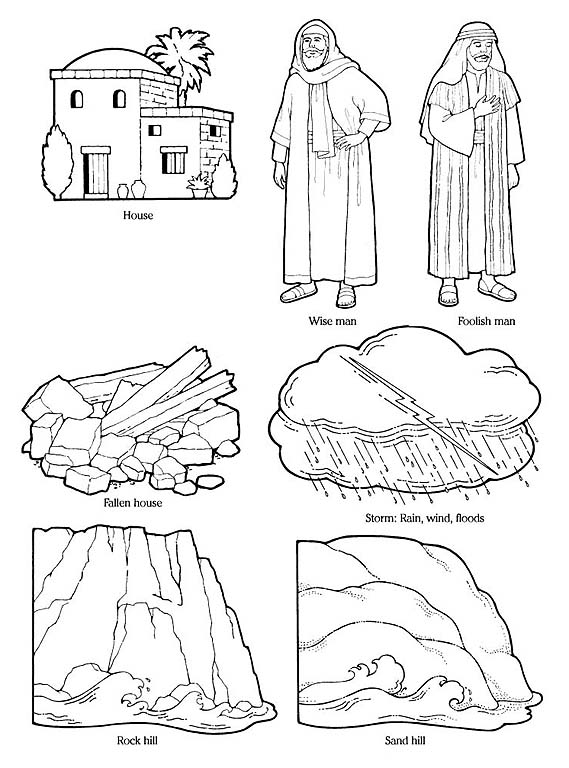 Wise man idea clipart graphic stock Parable of Wise Man and Foolish Man graphic stock