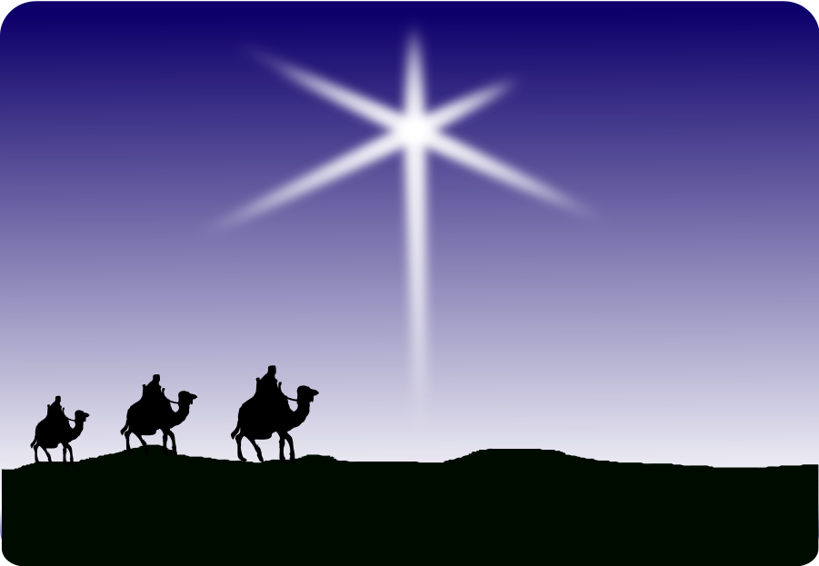 Wise men following star clipart public domain vector transparent stock wisemen star - /holiday/Christmas/religious/wisemen ... vector transparent stock