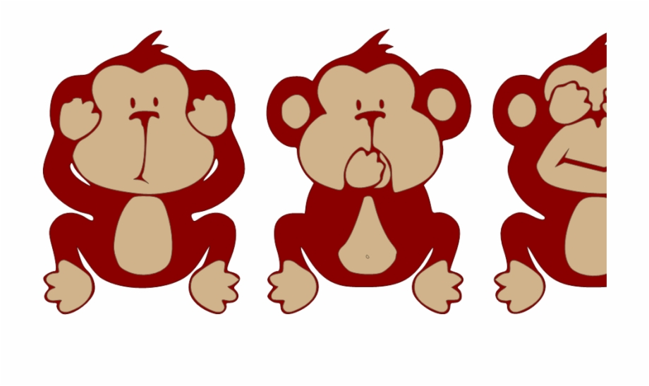 Wise monkey clipart graphic library stock Reindeer Clipart Evil Three Wise Monkeys Cute - Clip Art Library graphic library stock