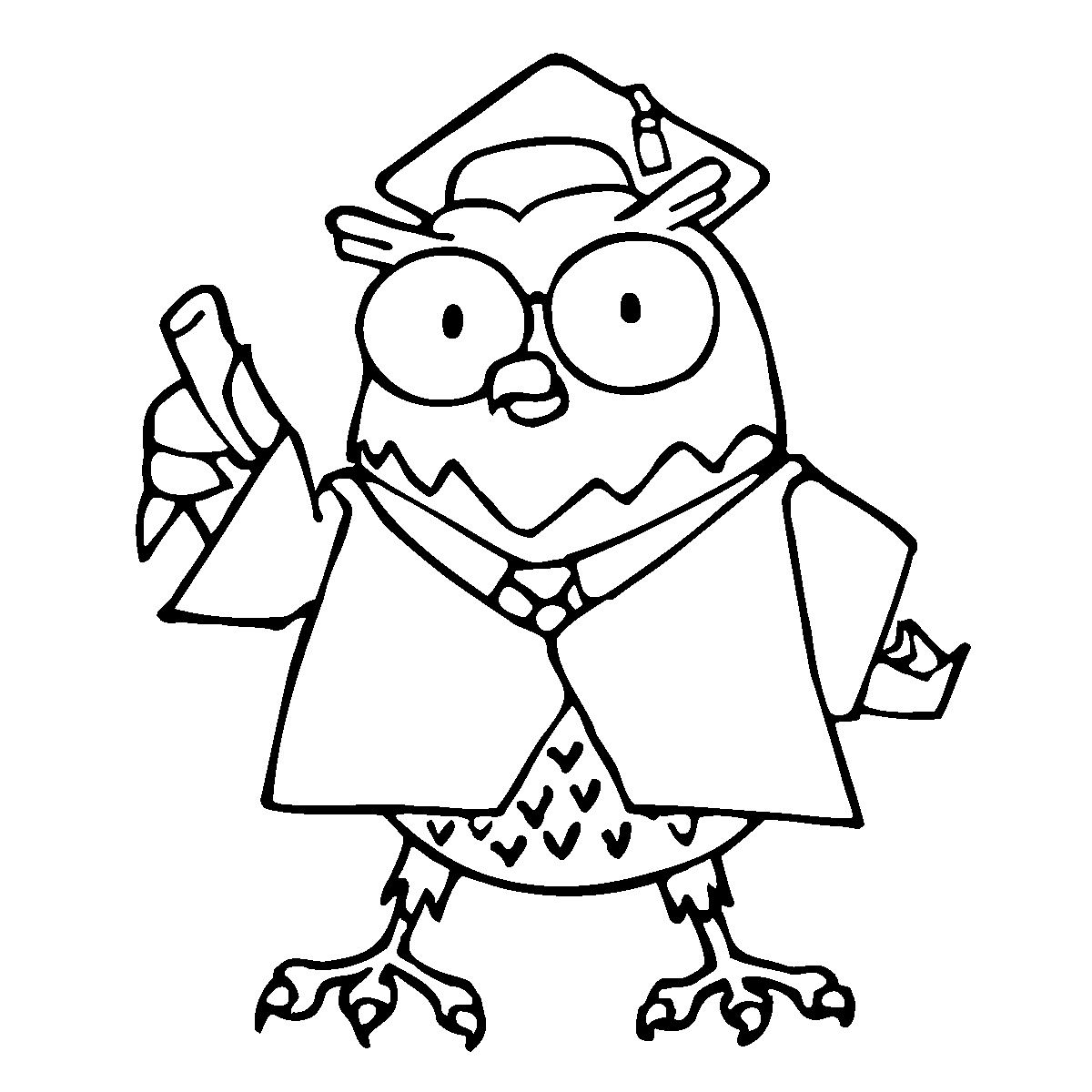Wise owl clipart black and white image library Clip Art: Cartoon Professor | Clipart Panda - Free Clipart ... image library
