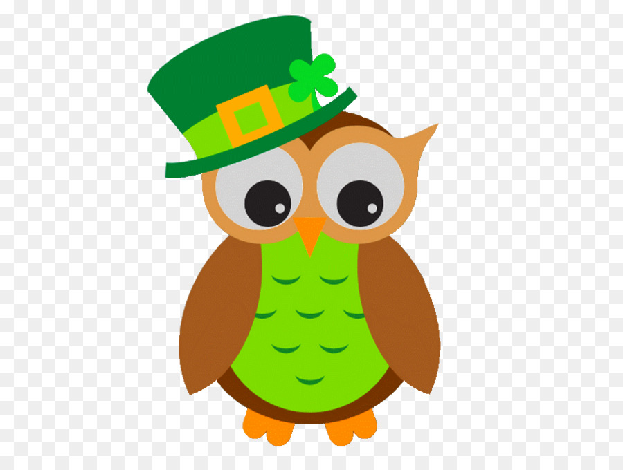 Wise owl st patrick clipart jpg black and white stock Owl Cartoon png download - 600*668 - Free Transparent Owl ... jpg black and white stock