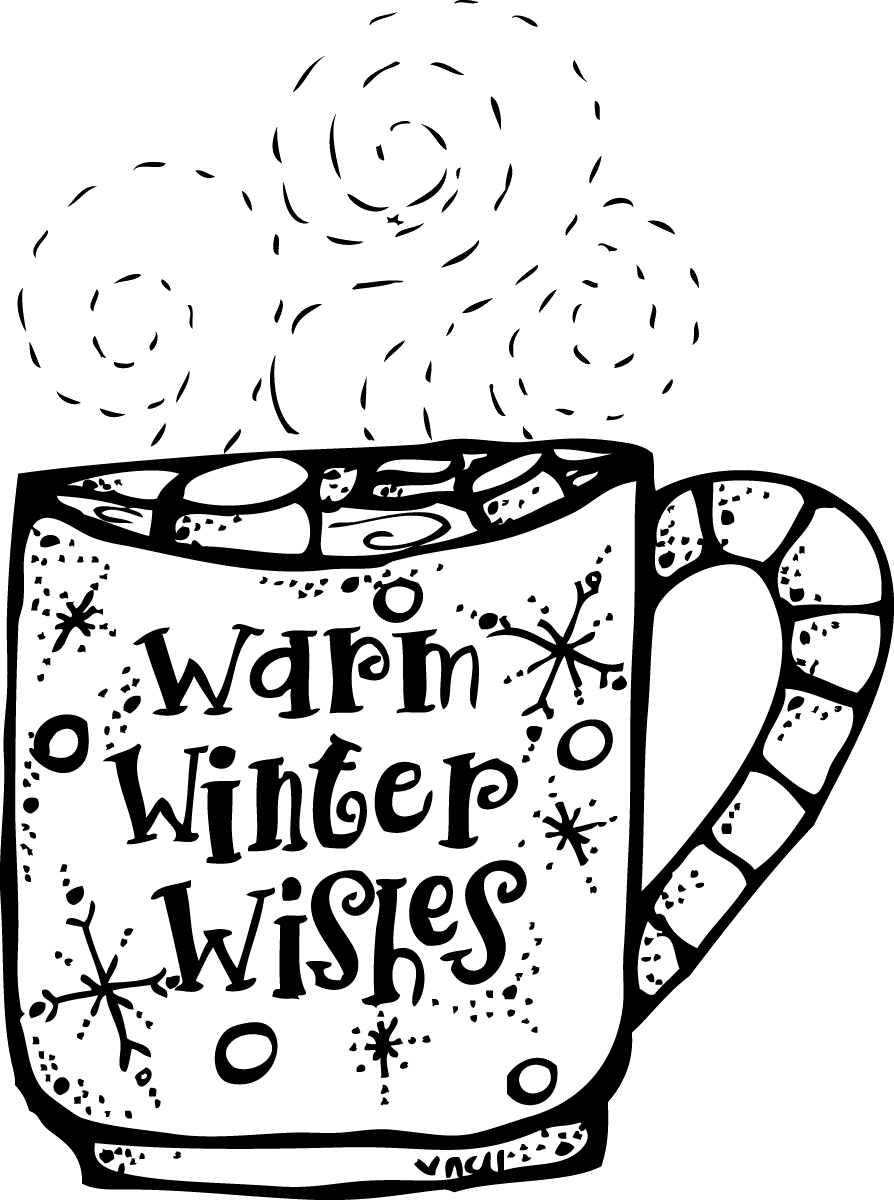 Wish clipart black and white graphic freeuse stock Winter Clipart Black And White Melonheadz Warm Wishes Png ... graphic freeuse stock
