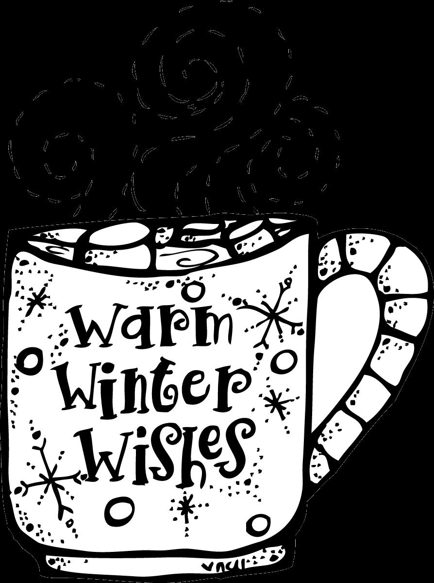 Melonheadz winter black and white clipart graphic freeuse download Winter Clipart Black And White Melonheadz Warm Wishes Png ... graphic freeuse download