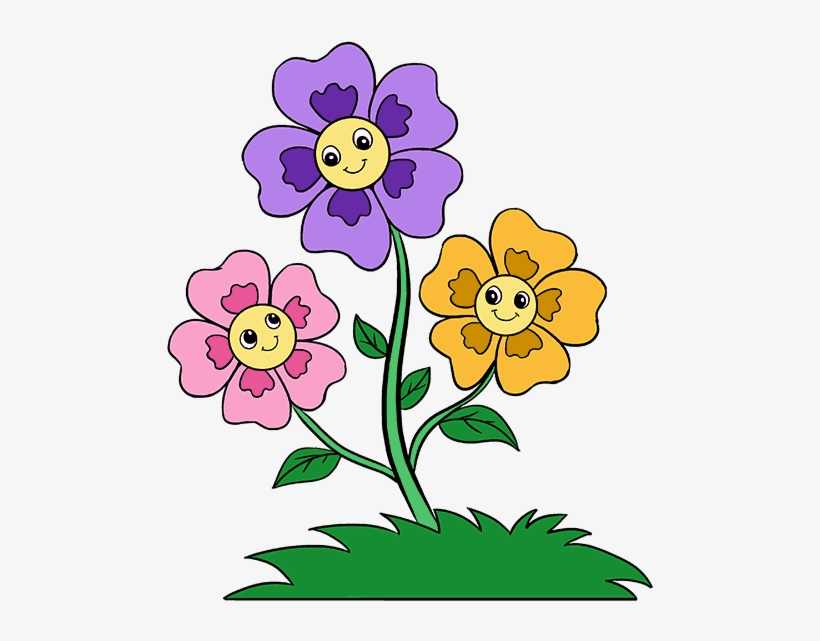 Wishing flower clipart graphic library download Cartoon Flowers Png - Wishing You A Good Week - Free ... graphic library download