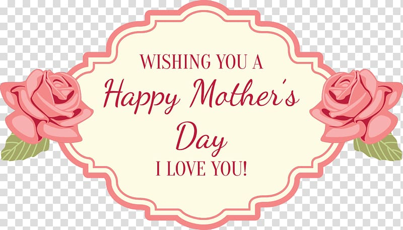 Wishing flower clipart jpg black and white Wishing you a Happy Mother\'s day i love you text, Mothers ... jpg black and white