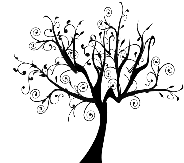Wispy tree clipart clip art black and white Swirl Tree Clip Art at Clipart library - vector clip art ... clip art black and white
