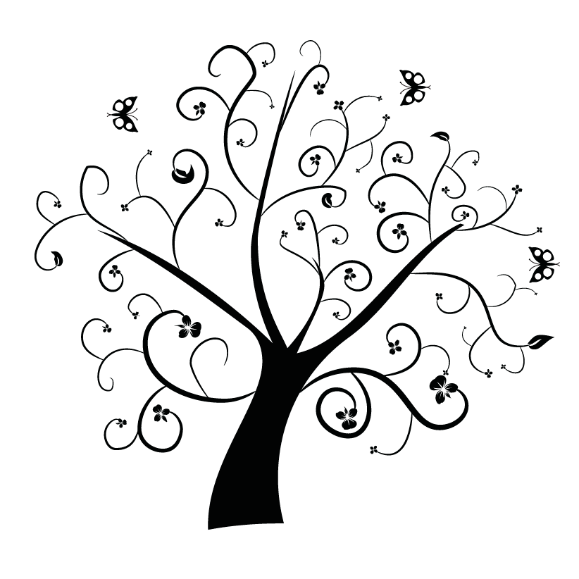 Wispy tree clipart clipart freeuse download Family Tree With Birds 3 Clipart - Clip Art Library clipart freeuse download