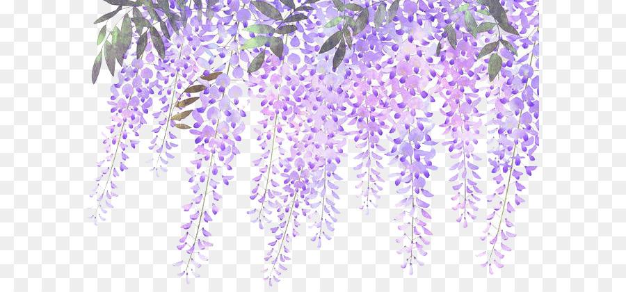 Wisteria lavender hydrangea clipart graphic royalty free download Lavender Flower Purple Wisteria - Painted lavender wisteria ... graphic royalty free download