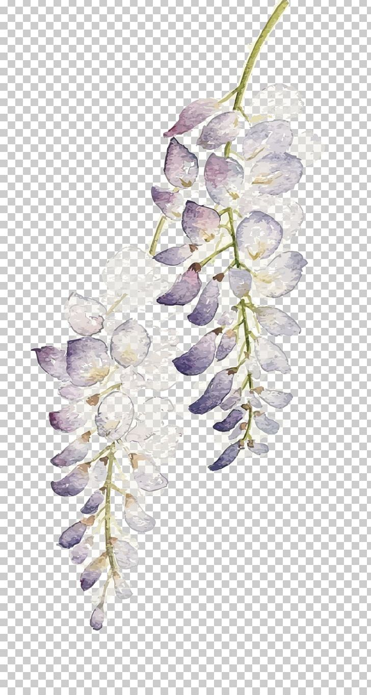 Wisteria lavender hydrangea clipart svg free download Flower Watercolor Painting Wisteria Floribunda PNG, Clipart ... svg free download