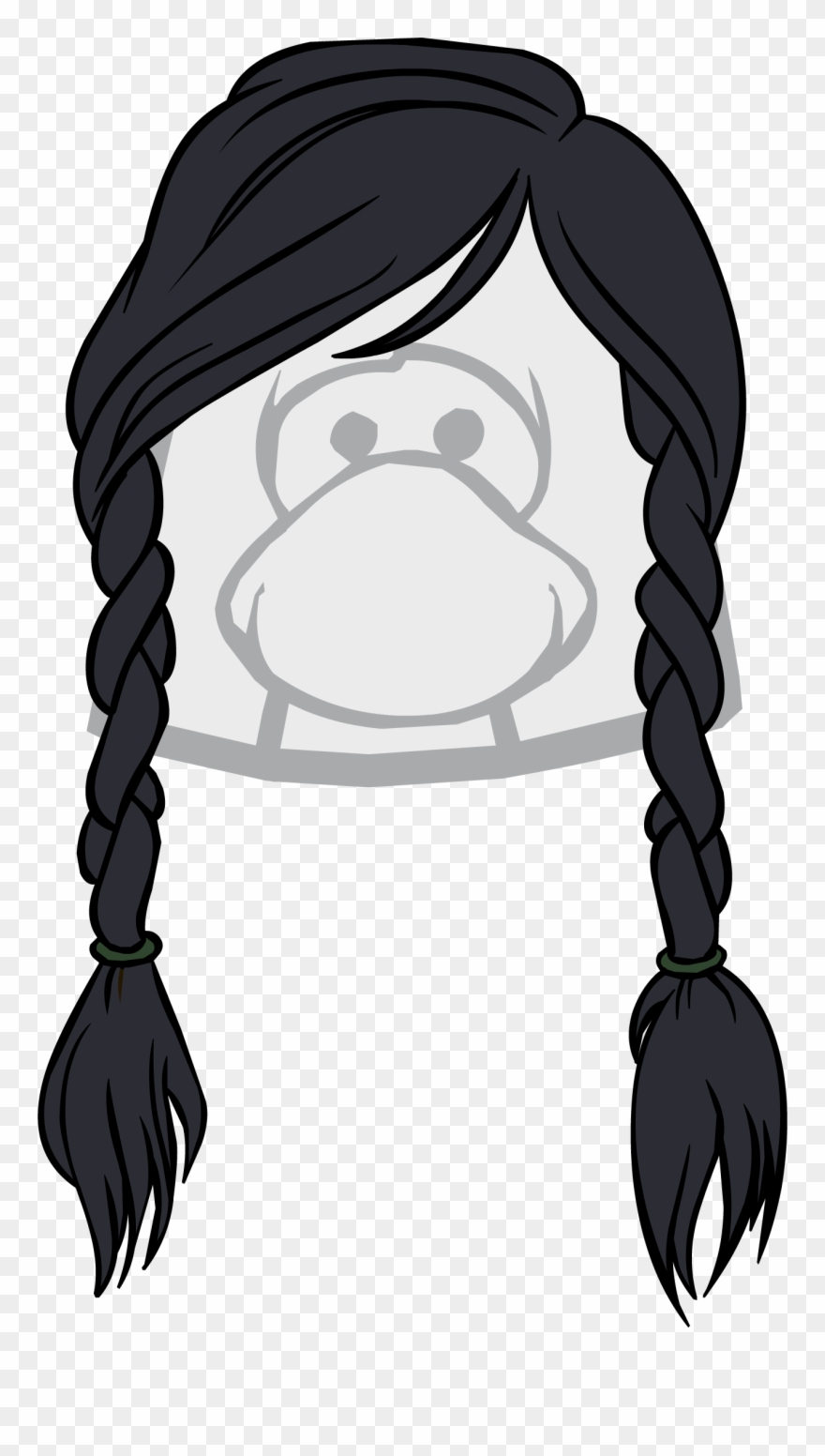 Wistful clipart clip black and white download The Wistful - Club Penguin Brown Hair Clipart (#3356152 ... clip black and white download