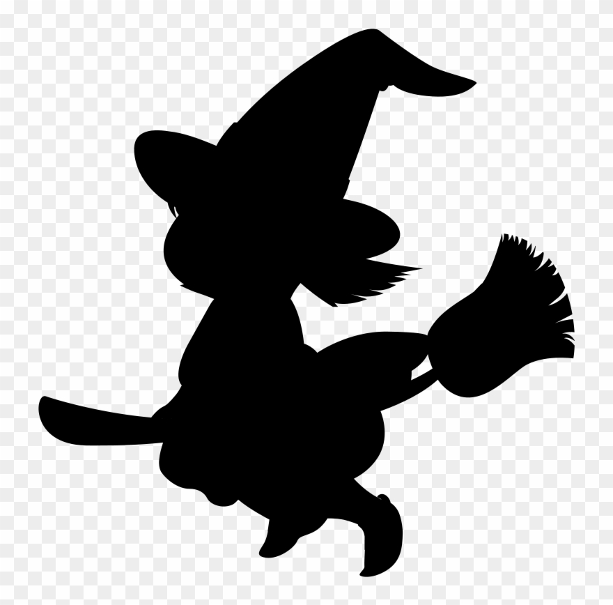 Witch black clipart image transparent library Cartoon Witch Clipart - Witch Cartoon Black And White - Png ... image transparent library