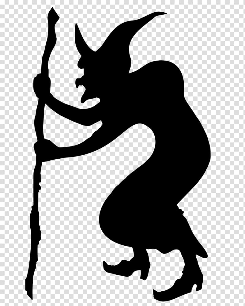 Witch black clipart black and white download Hag Witchcraft Silhouette , witch transparent background PNG ... black and white download