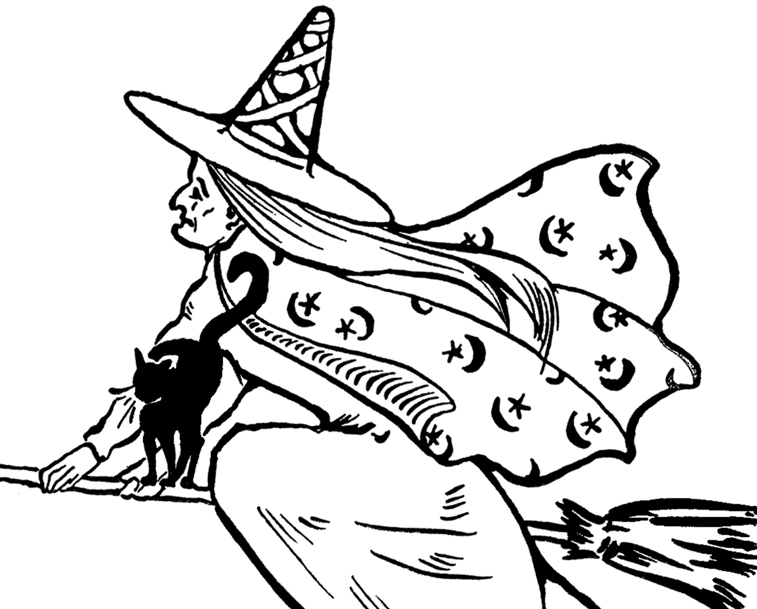 Witch book free clipart jpg freeuse download Free Flying Witch Clip Art! - The Graphics Fairy jpg freeuse download