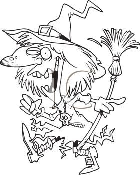 Witch clipart black and white image transparent stock Witch clipart black and white 4 » Clipart Portal image transparent stock