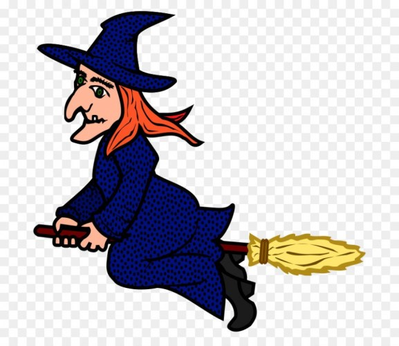 Witch clipart png jpg black and white library Witchcraft Broom Clip art – witch clipart png download – 17 ... jpg black and white library