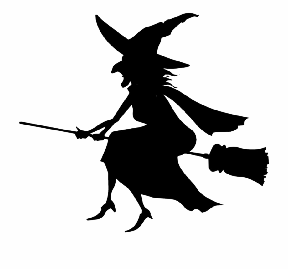 Witch clipart png clipart library download Free Icons Png - Halloween Witch Clipart Black And White ... clipart library download
