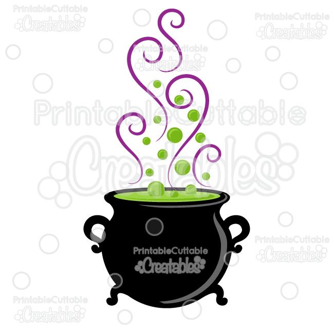 Witch cloudron clipart vector transparent stock Halloween Witch Cauldron SVG Cut File & Clipart vector transparent stock