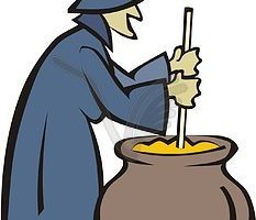 Witch craft clipart