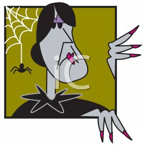 Witch fingernail clipart picture freeuse A Spiderweb and a Witch With Long Fingernails - Royalty Free ... picture freeuse