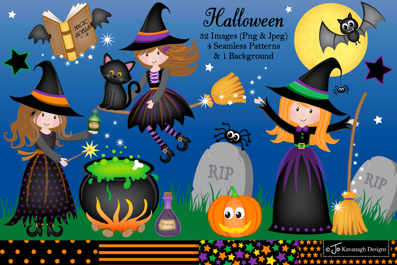 Witch graphics clipart png royalty free library Halloween clipart, witch graphics & Illustrations -C14 png royalty free library