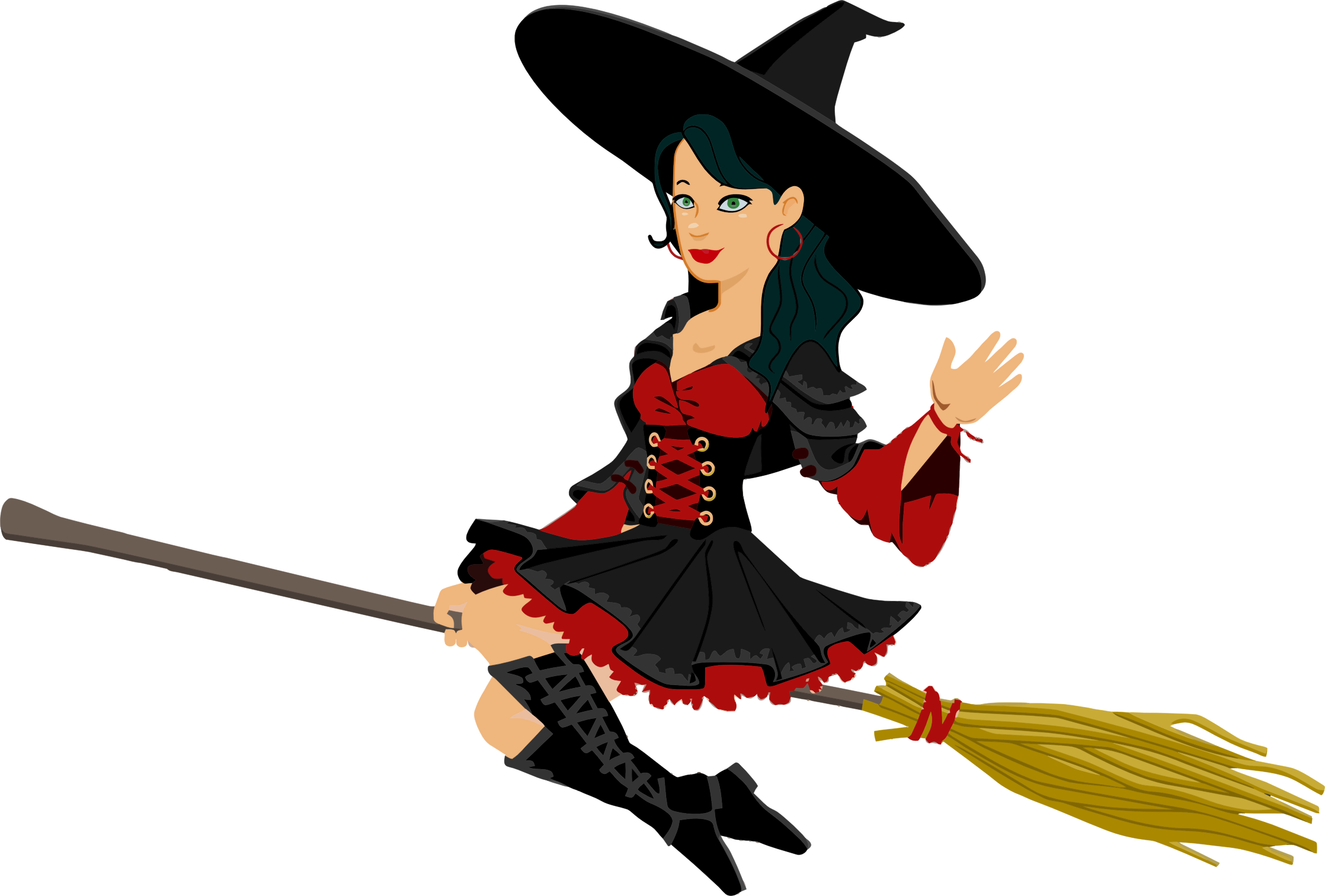 Witch halloween clipart black and white stock Flying Witch Clipart at GetDrawings.com | Free for personal use ... black and white stock