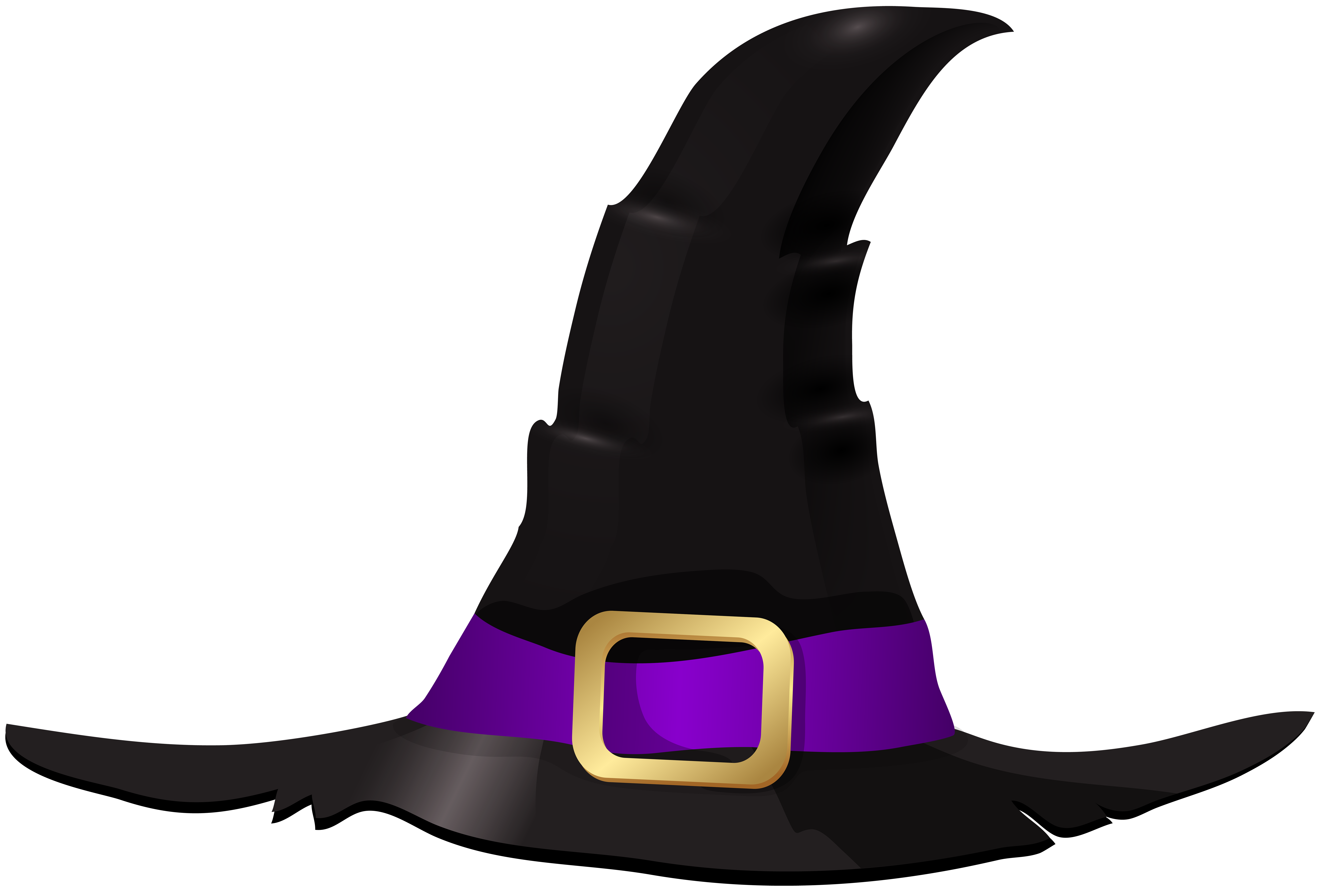 Witch hat clipart free svg freeuse library Halloween Witch Hat PNG Clip Art Image | Gallery ... svg freeuse library