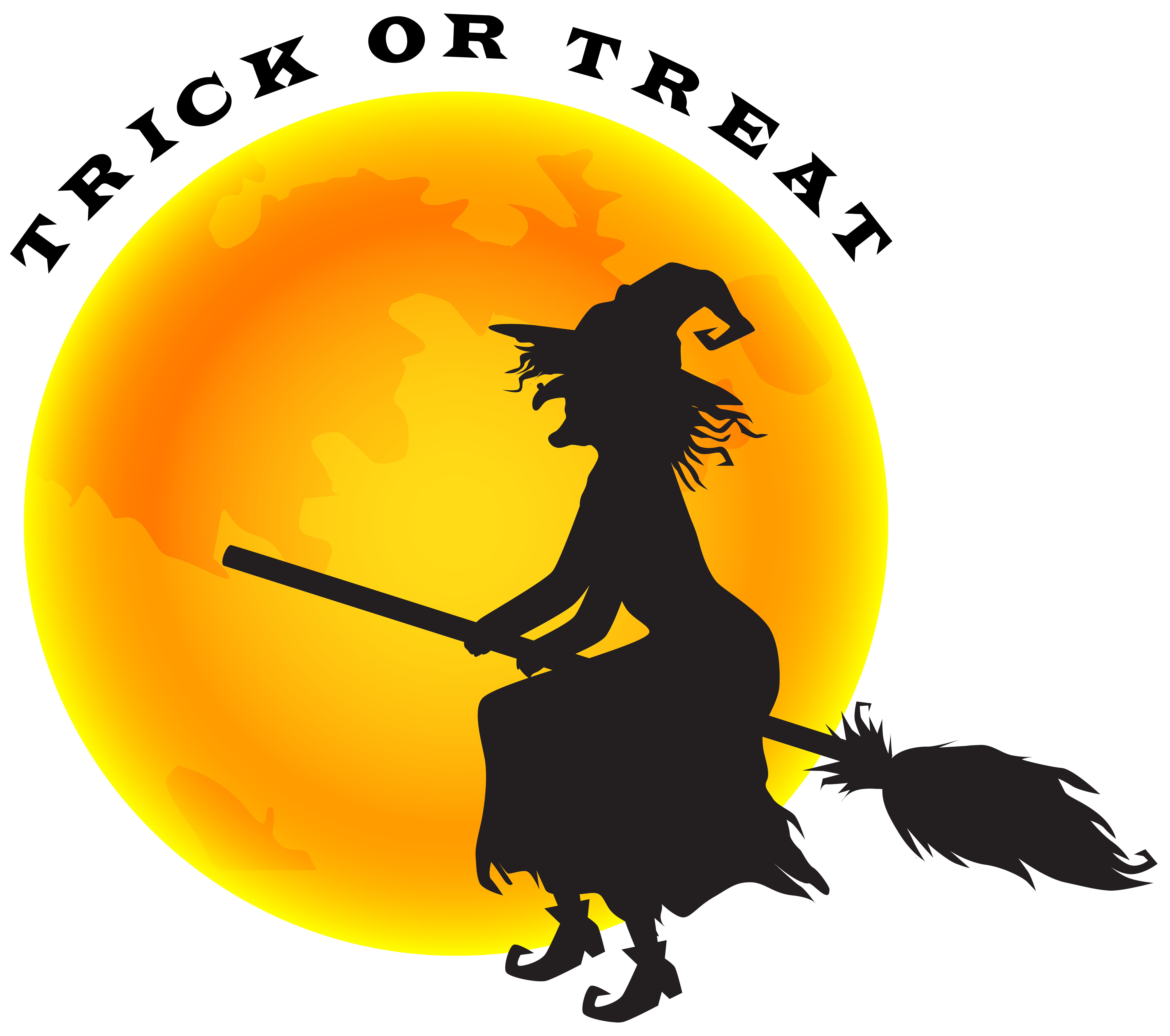 Witch in moon clipart clip art free stock Halloween Witch and Moon PNG Clip Art Image | Gallery ... clip art free stock