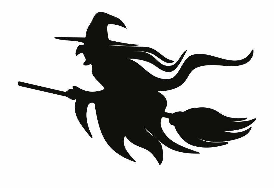 Witch black clipart clip library stock Clipart Black And White Download Clipart On Broomstick ... clip library stock