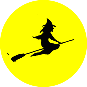 Witch moon clipart free image library library Witch Flying Clip Art at Clker.com - vector clip art online ... image library library
