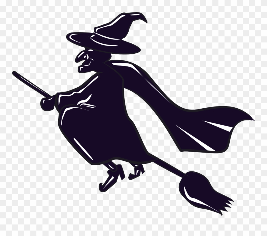 Witch on a broomstick clipart freeuse The Totally Free Clip Art Blog - Witch On A Broomstick ... freeuse