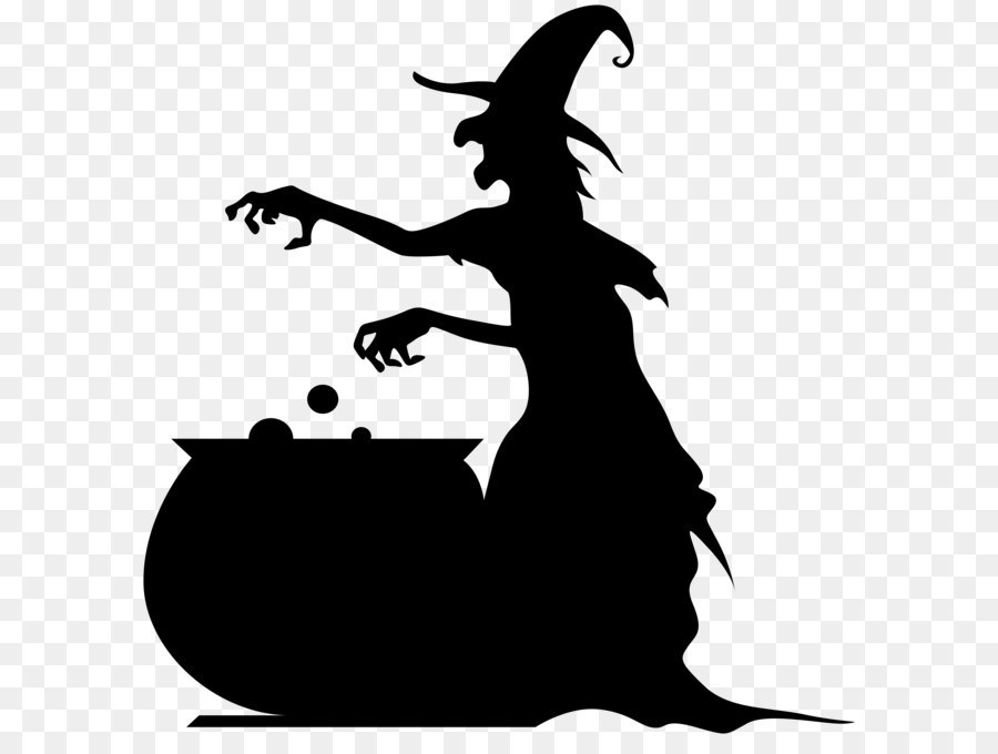 Witch shadow clipart vector transparent download Free Witch And Cauldron Silhouette, Download Free Clip Art ... vector transparent download