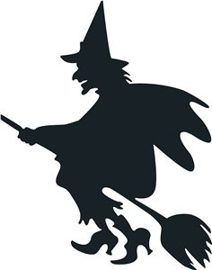 Witch shadow clipart picture black and white 45 Best Witch silhouette images in 2018 | Witch silhouette ... picture black and white