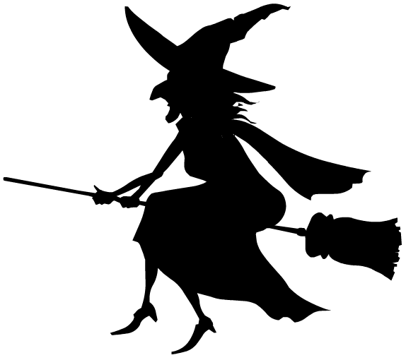 Witch shadow clipart clip free download Free Black and White Halloween Clip Art | spidey | Halloween ... clip free download