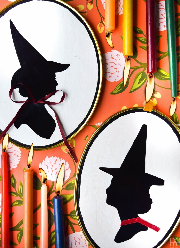 Witch shriek clipart vector free DIY Witch Silhouette Decor vector free