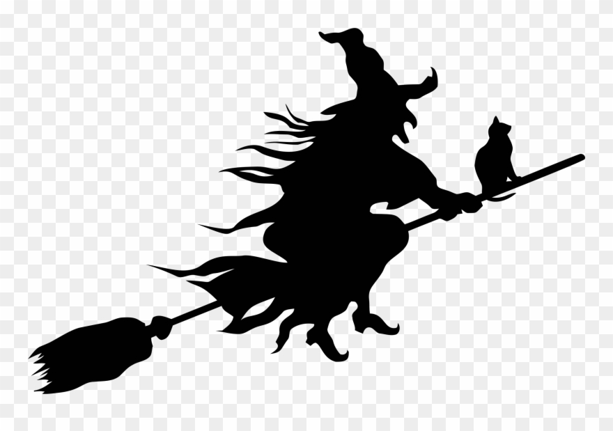 Witch silhouette clipart banner royalty free Witchcraft Silhouette Witch\'s Broom Drawing Free Commercial ... banner royalty free