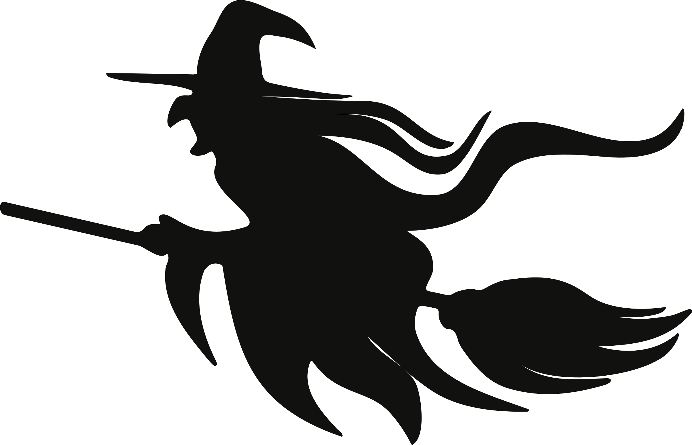 Witch silhouette images clipart png stock Broom Witchcraft Silhouette Clip art - bat png download ... png stock