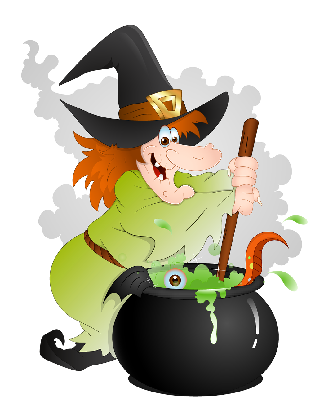 Witch stirring pot clipart graphic black and white download Free Witch\'s Cauldron Cliparts, Download Free Clip Art, Free ... graphic black and white download