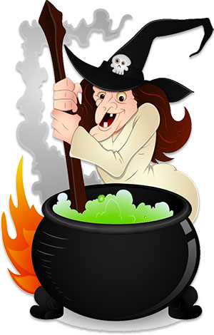 Witch stirring pot clipart royalty free download Free Witch Clipart - Graphics - Animations royalty free download
