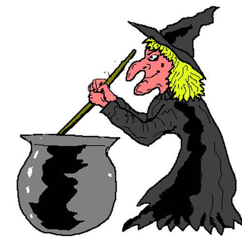 Witch stirring pot clipart graphic stock Witch Pictures Free | Free Witch Stirring Her Cauldron Clip ... graphic stock