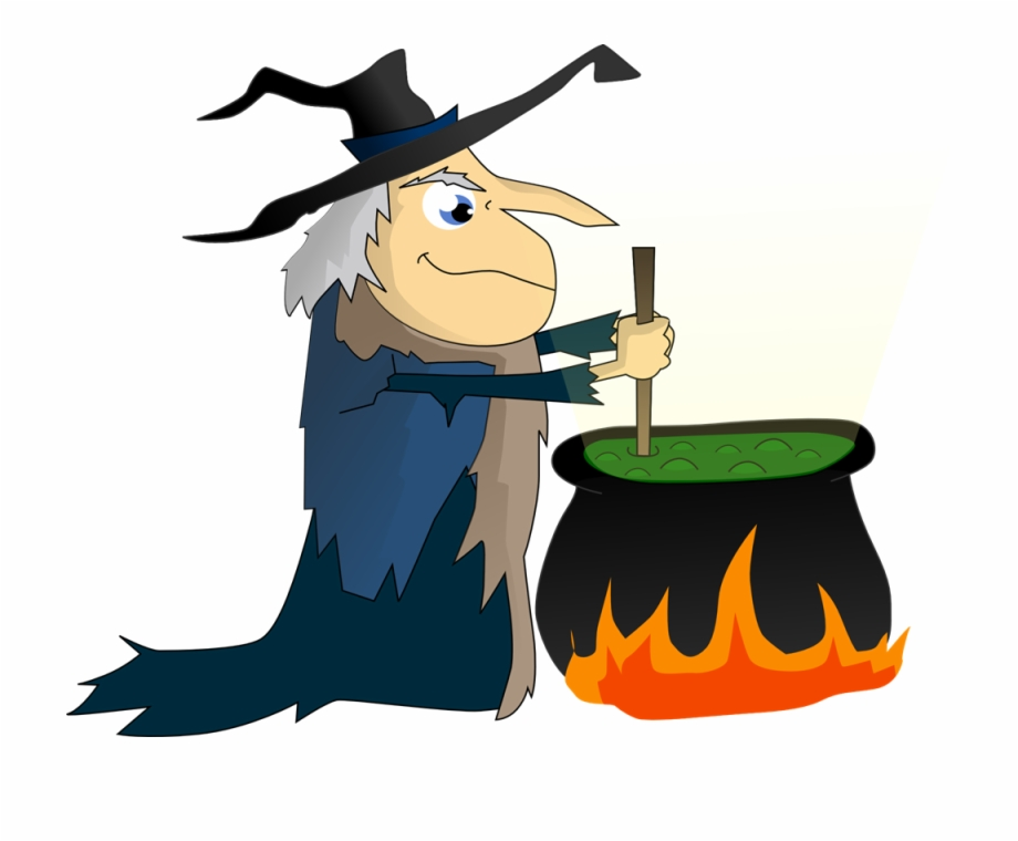Witch stirring pot clipart png download Png Free Collection Of Halloween Cauldron High Stirring ... png download
