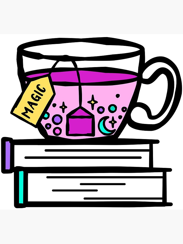 Witch tea cup clipart jpg freeuse download Tea and Books are Magic. Magical Tea. Witch Wizard Brew.   Poster jpg freeuse download