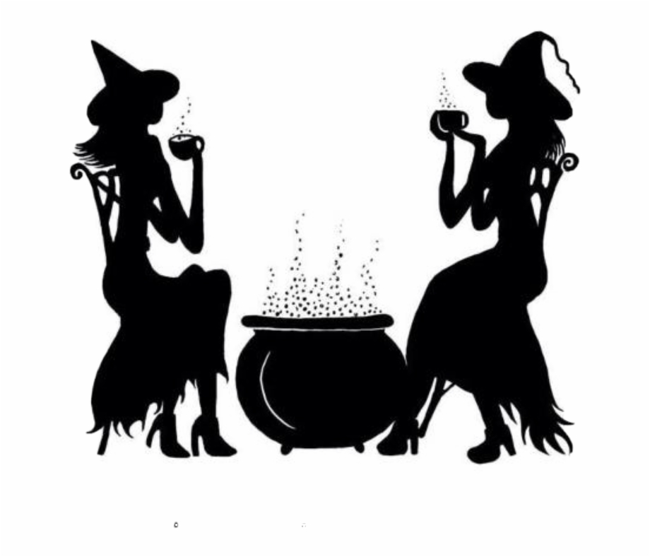 Witch tea cup clipart banner library download Halloween Silhouette Witch Brew Freetoedit - Witches Brew ... banner library download