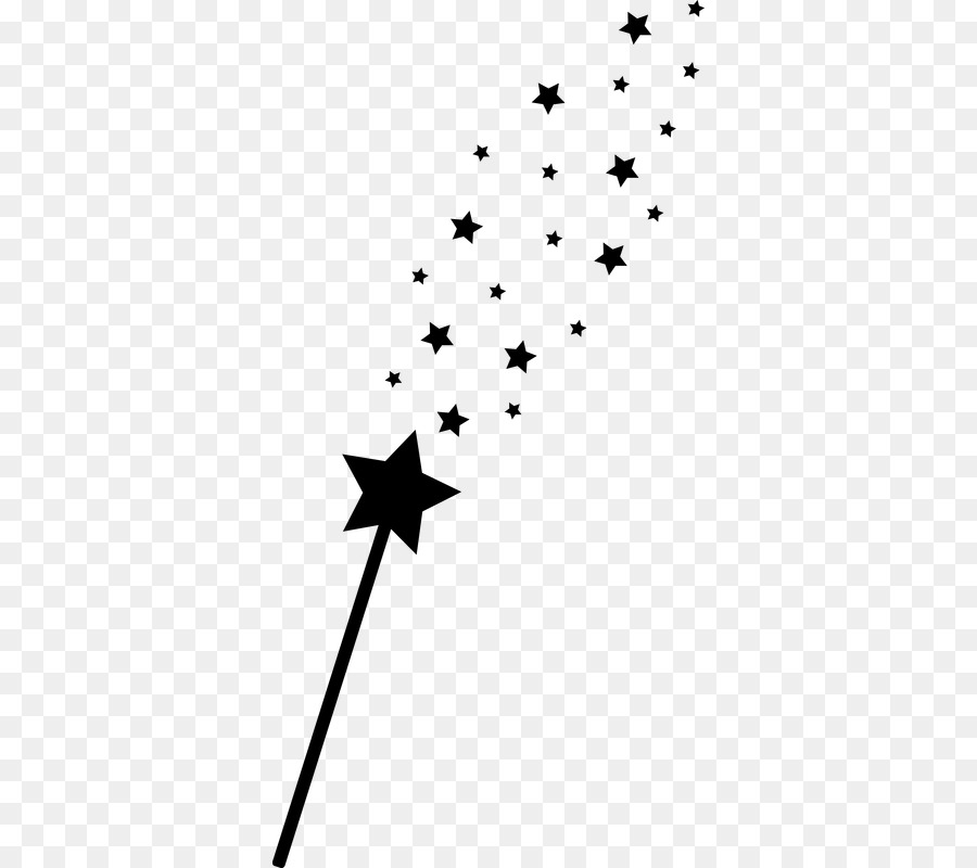 Witch wand free clipart banner black and white download Tree Branch Silhouette png download - 398*800 - Free ... banner black and white download