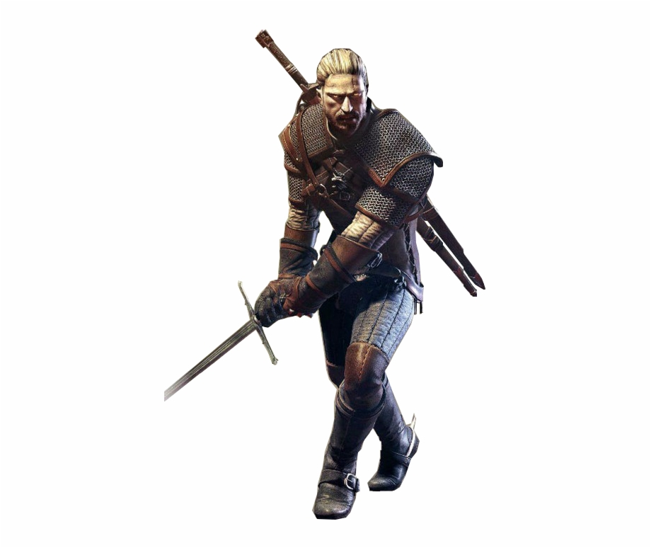 Witcher 3 clipart banner black and white stock Geralt Of Rivia - Witcher 3 Transparent Gif Free PNG Images ... banner black and white stock